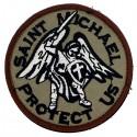 Patch tissu Saint michael l'archange beige