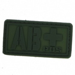 Patch PVC groupe sanguin AB+ olive