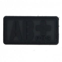 Patch PVC groupe sanguin AB+ noir