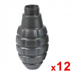 Lot de 12 coques de grenade thunder style Pineapple Black Eagle