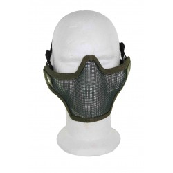 Airsoft Strike Half Face Tactical Military Bravo Strike Wire Mesh Mask OD