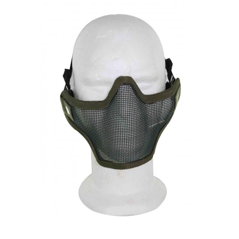 Airsoft Strike Half Face Tactical Military Bravo Strike Wire Mesh MaskOD