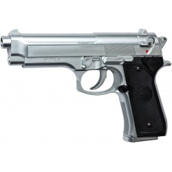 Réplique de poing, ressort, M92 FS, hop-up, chromé