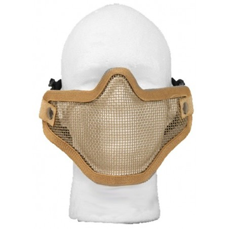 Airsoft Strike Half Face Tactical Military Bravo Strike Wire Mesh Mask (Tan)
