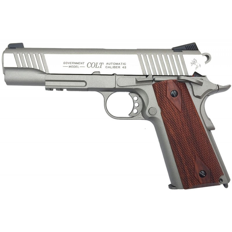 Colt Rail Gun Stainless - 1911 CO2 Blowback