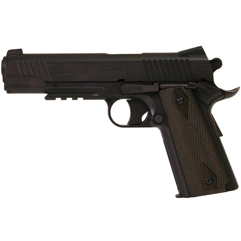 COLT 1911 Rail Gun Noir Mat culasse metal fixe 6 mm 15 Bbs