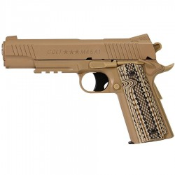 COLT M45A1 CO2 Tan culasse metal fixe 6mm 15bb's