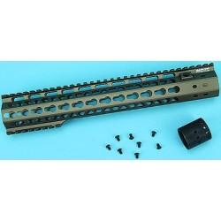 G & P MOTS 12,5 pouces Upper Cut Keymod Handguard pour M Series AEG (Sand)