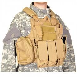 Veste tactic SWISS ARMS Tactique CRS beige