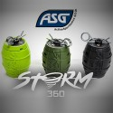Grenade airsoft Storm 360 ASG vert fluo