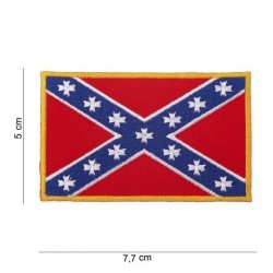 "Patch   "" drapeau rebel  ""  (extra small)"