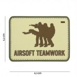 Patch 3D Airsoft Teamwork sand