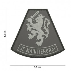 Patch 3D PVC Je Maintiendrai grey