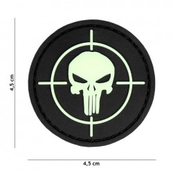 Patch 3D PVC Punisher sight glow in the dark