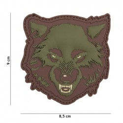 Patch 3D PVC Wolf green