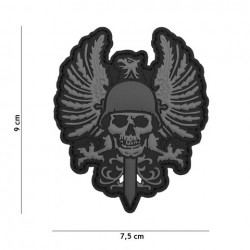 PATCH 3D PVC SPANISH SKULL GRIS
